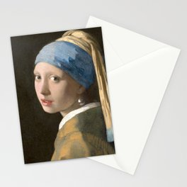 Johannes Vermeer - Girl with the pearl earring (1665) Stationery Cards