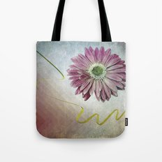 violet daisy with ribbon Tote Bag