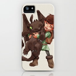Hiccup & Toothless - Childhood  iPhone Case