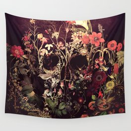 Bloom Skull Wall Tapestry