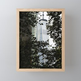 Seeing WTC1 through the Trees Framed Mini Art Print