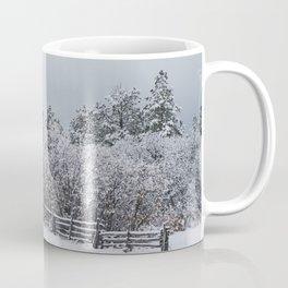 Winter Forest Fence Coffee Mug