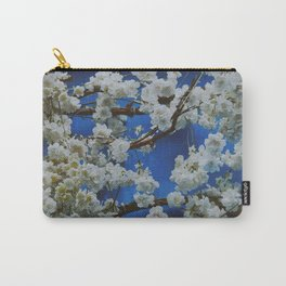 Sakura, cherry white blossom with blue background in Paris - Fine Arts Travel Photography Carry-All Pouch