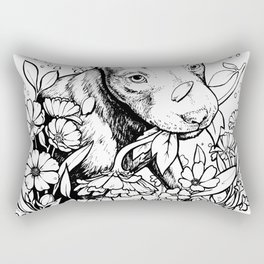 Color-Me Canine: Pitbull Rectangular Pillow