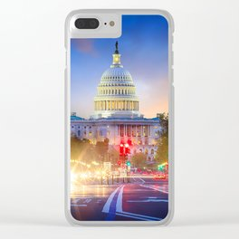 DC 01 - USA Clear iPhone Case