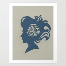 Turtle Girl Art Print