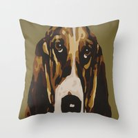 harley Throw Pillows featuring Harley by Chuck LaVoie