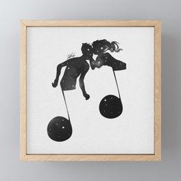 When love meets music. Framed Mini Art Print