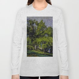 Chestnut Trees above a River Long Sleeve T-shirt