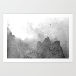 Old rocks Art Print