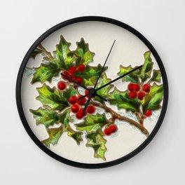 HollyBerries20150808 Wall Clock