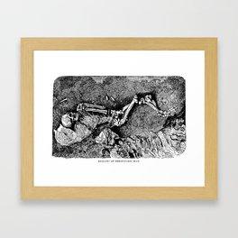 Remains of Prehistoric Man Framed Art Print
