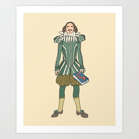 Outfit of Shakespeare Art Print