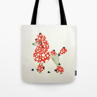 poodle Tote Bags featuring Poodle. by ruffgaws