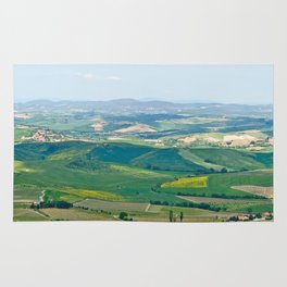 Tuscany Landscape with Hills Rug