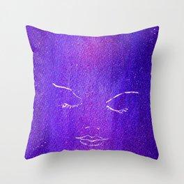 Mysterious Woman Throw Pillow