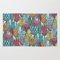 tulips Area & Throw Rugs featuring tulips by Sharon Turner