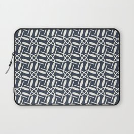 Banded Together - Geometric Slate Blue Laptop Sleeve