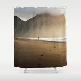 Sunny morning in Iceland Shower Curtain