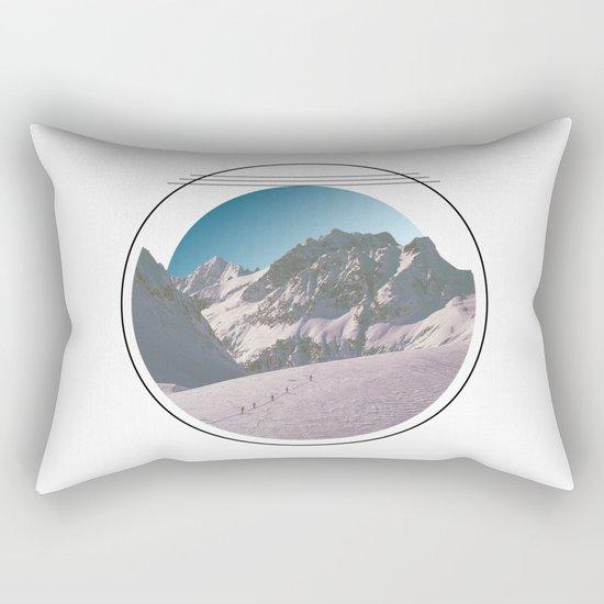 Climbing the Mountain Rectangular Pillow