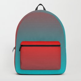 Trendy stylish minimalist colorful bright ruby red turquoise blue ombre Backpack