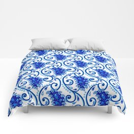 Paisley Porcelain blue and white Comforters