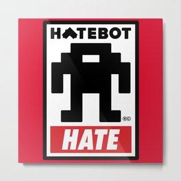 HATEBOT Metal Print
