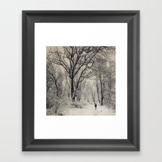 Insignificant in this cold world.... Framed Art Print