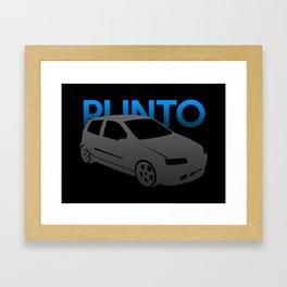 Fiat Punto Framed Art Print