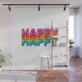 happy retro vintage typography Wall Mural