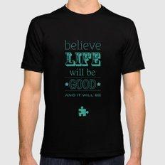 Believe Life Mens Fitted Tee Black MEDIUM