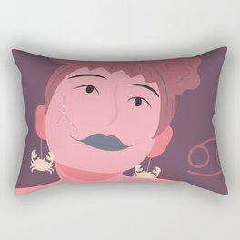 Cancer Zodiac Woman Rectangular Pillow