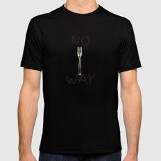 No Forking Way - by Genu WORDISIAC™ TYPOGY™ Black LARGE Mens Fitted Tee