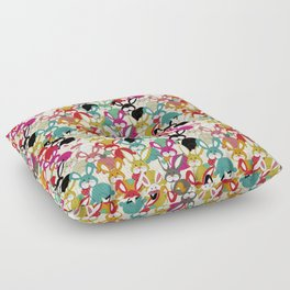Colored  Easter bunny seamless pattern Floor Pillow
