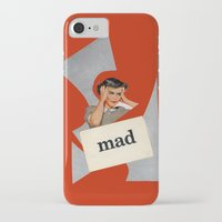mad iPhone & iPod Cases featuring mad by Errin Ironside