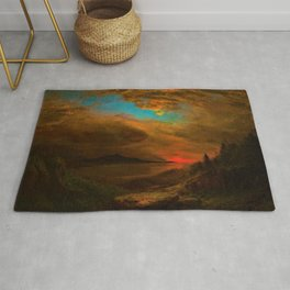 Twilight, Mount Desert Island, Maine by Frederic Edwin Church Rug