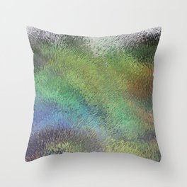 Wavy Abstract Colorful Frosted Glass Throw Pillow