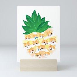 pineapple corgi dog lovers pet owners Mini Art Print