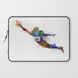 american football player scoring touchdown Laptop Sleeve