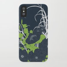 Midnight Flowers iPhone X Slim Case