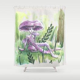Empire of Mushrooms: Laccaria Amethystina Shower Curtain