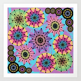 Vibrant Abstract Floral Pattern Art Print