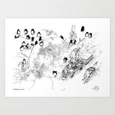 La Traversée du Lac Gelé / Crossing the Frozen Lake Art Print