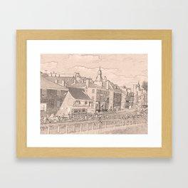Kings Staithe York river Ouse Framed Art Print