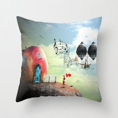 The Music Traveler Throw Pillow