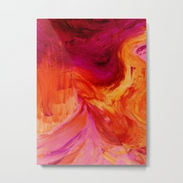 Abstract Hurricane II by Robert S. Lee Metal Print