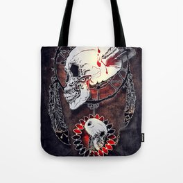 Dream Catcher Skull Tote Bag