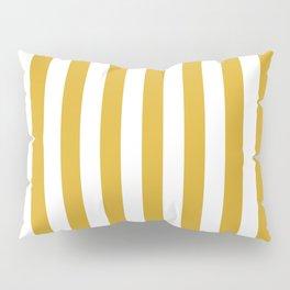 Maize Yellow Simple Basic Striped Pattern Pillow Sham