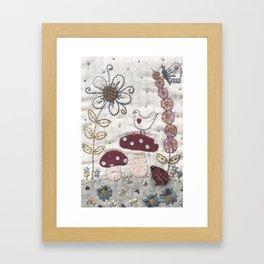 Mushroom Corner Framed Art Print