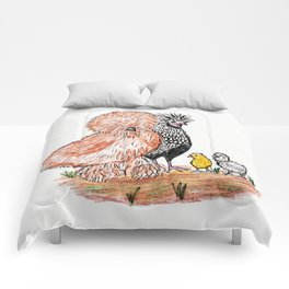 A bunch of Chickens Comforters